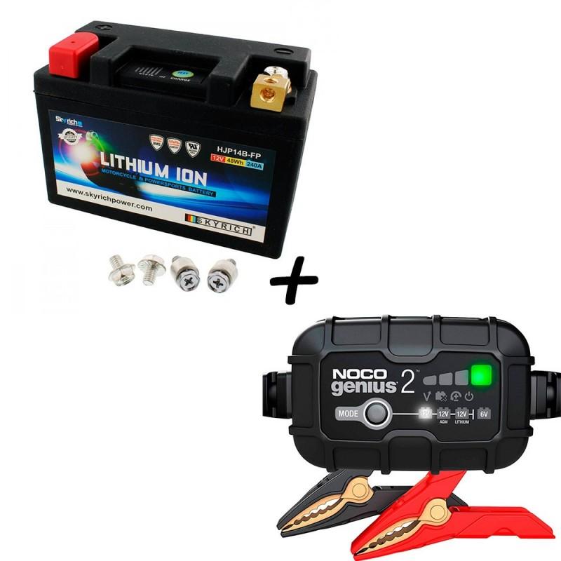 Bateria Skyrich HJP14B-FP + Cargador GENIUS2 Litio