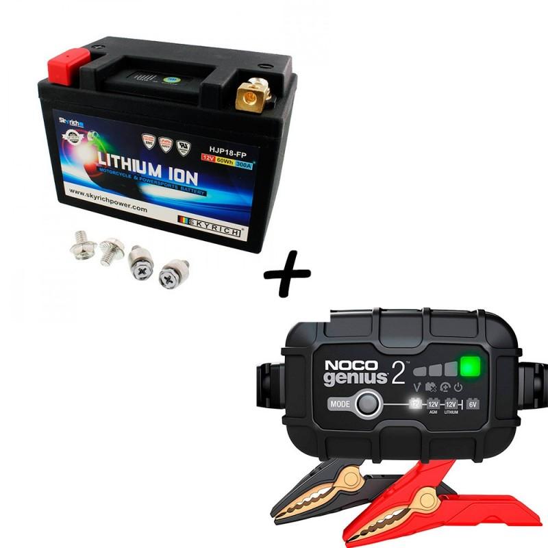 Bateria Skyrich HJP18-FP + Cargador GENIUS2 Litio