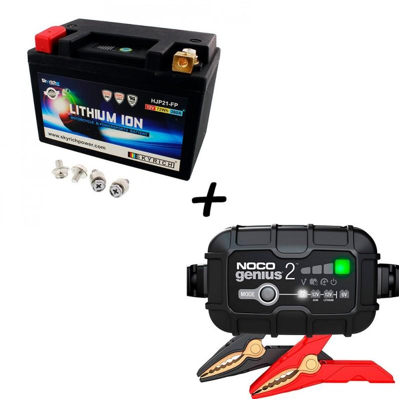 Bateria Skyrich HJP21-FP + Cargador GENIUS2 Litio