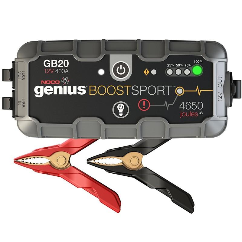 Arrancador de moto y coche Booster de litio Ultraligero GB20
