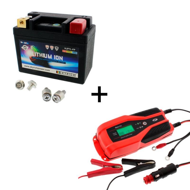 Bateria Skyrich HJP7L-FP + Cargador JMP SKAN 4.0 Litio