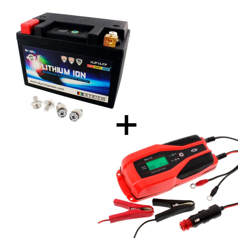 Bateria Skyrich HJP14-FP + Cargador JMP SKAN 4.0 Litio